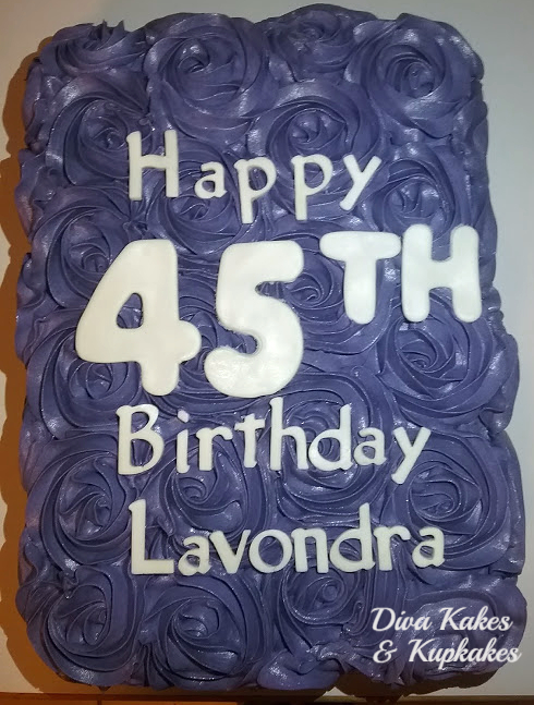 1/2 sheet rosette birthday cake