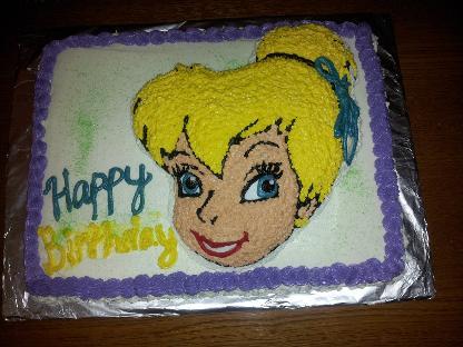Tinker bell dust cake