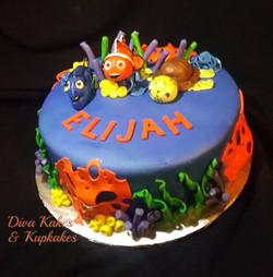 nemo and friends baby shower cake
