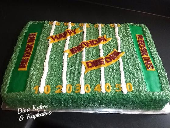 redskins half sheet cake