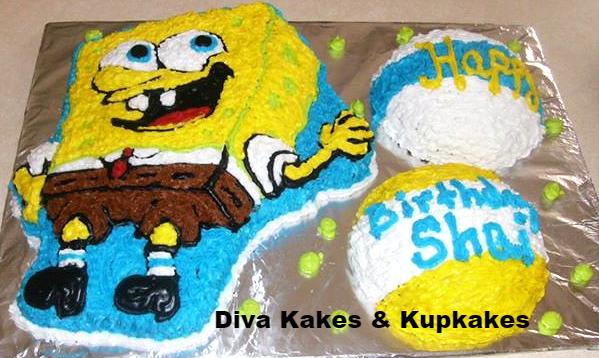 Sponge Bob buttercream cake