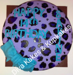 Leopard Print Party Cake