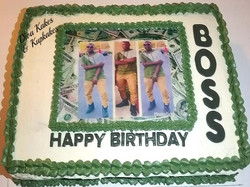 1/2 Sheet Photo Birthday cake