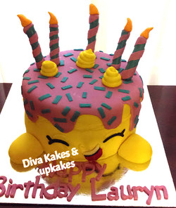 Shopkins Scuptured Cake