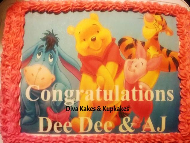 Pooh & Friends Photo Cake