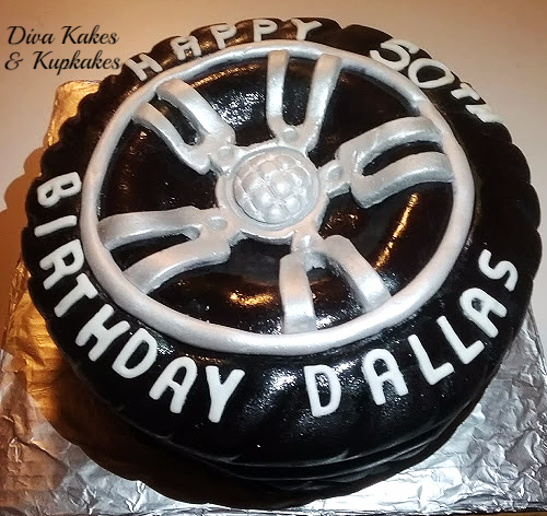 50th Birthday Tire Cake