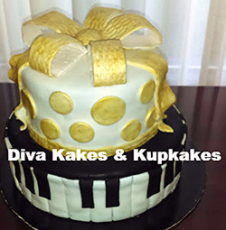 I love Music Sweet 16 Cake