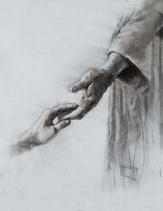 The Savior's Hand print