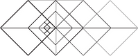 quadrados sobrepostos