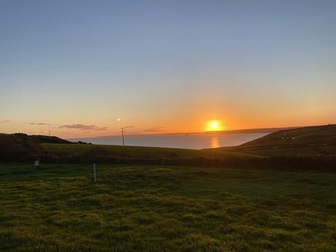 Sunset looking to Hemmick beach
