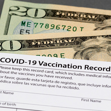 Fake COVID vaccination cards has led to arrests