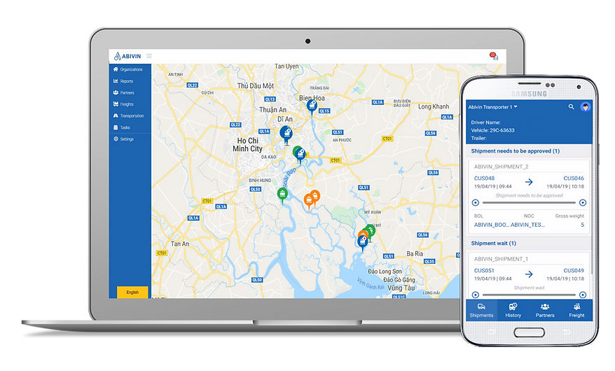 Abivin vRoute app for containers freight