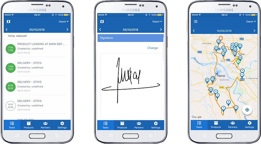 Abivin vRoute Mobile App