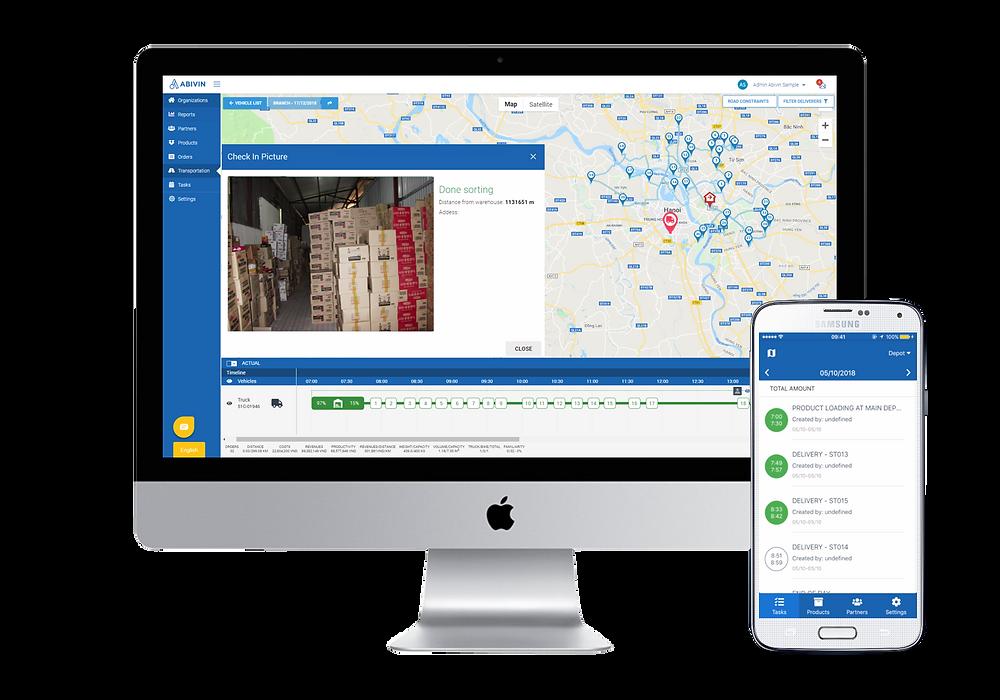 Abivin vRoute - Phần mềm quản lý vận tải cho các công ty 3PL