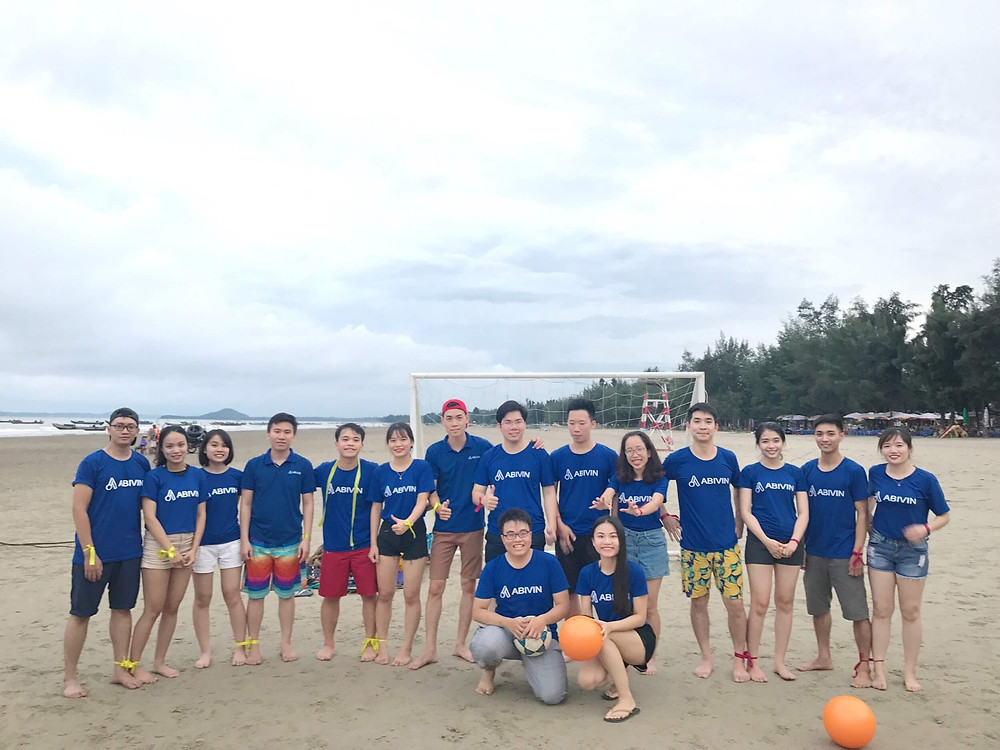 Abivin in a team-building event