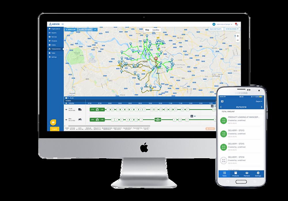 Abivin vRoute - Phần mềm quản lý vận tải và quản lý giao hàng tốt nhất
