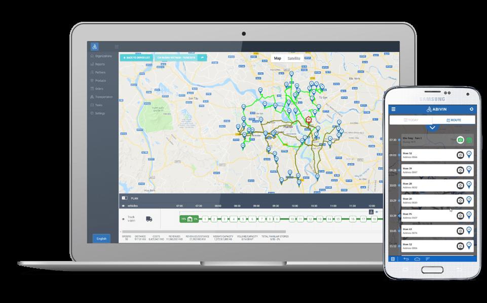 Abivin vRoute - Phần mềm quản lý vận tải