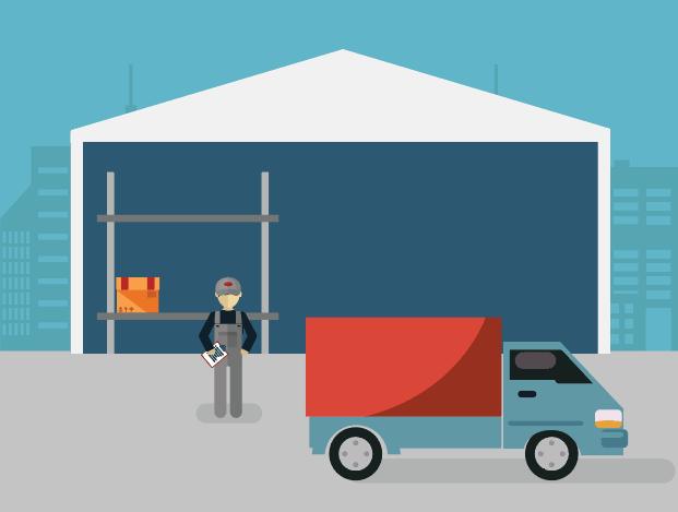 utilise warehouse using zero inventory model