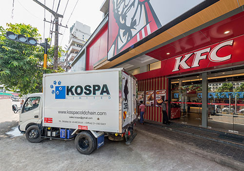 Kospa Logistics Myanmar uses Abivin vRoute to optimize delivery route for KFC