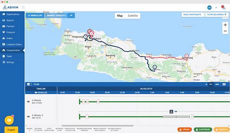 Abivin vRoute optimizes long-haul route plan