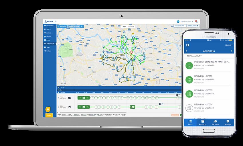 Abivin vRoute app cho nhà phân phối