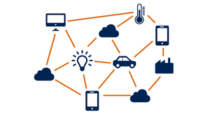 Cloud computing as a front end to access the Internet of things