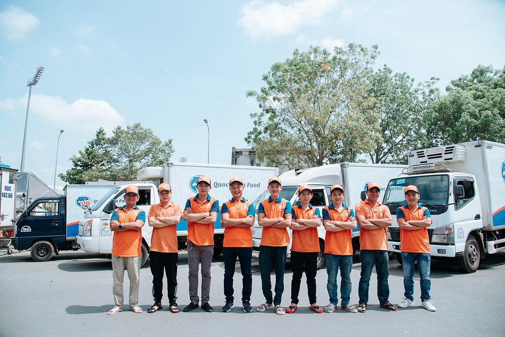 Delivery staff from Quoc Huan Food