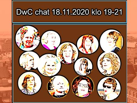 DwC:n TransHelsinki-viikon chatti                     - Avoinna 18.11.2020 klo 19-21