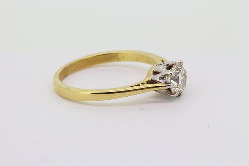 Classic diamond solitaire ring.