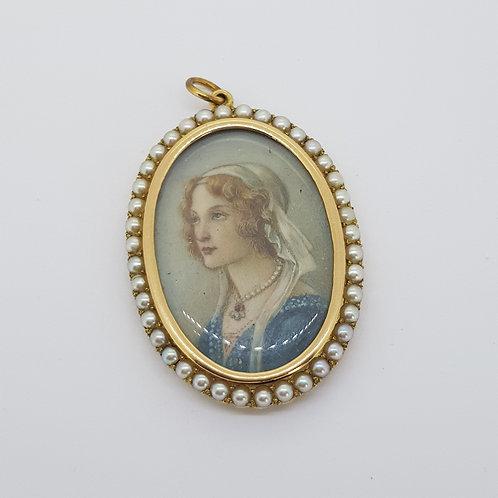 Antique pearl pendant