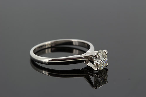 Cartier style solitaire diamond ring d1.01cts 14ct