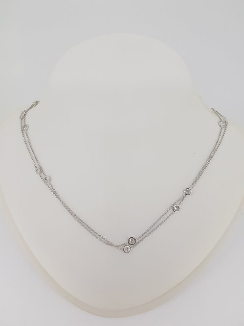 Long diamond set chain.