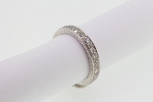 Platinum and diamond full et D1.00ct