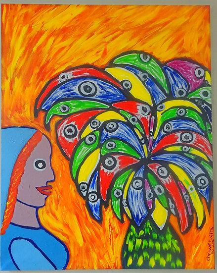Flower eyes  - Acrylic on Canvas