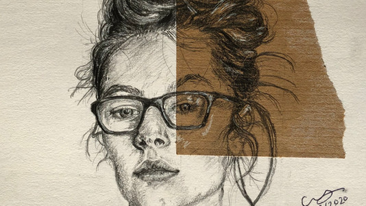 Christy Woolley - Self Portrait with Dishevelled Hair -WINNER 3RD PRIZE £200