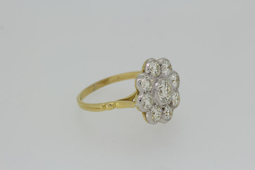 18ct Diamond cluster ring D2.10cts