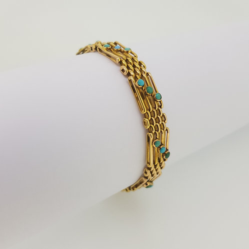Victorian turquoise gate bracelet.