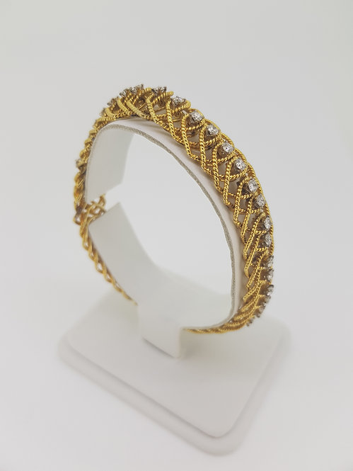 Fine gold and diamond bracelet 2.5cts