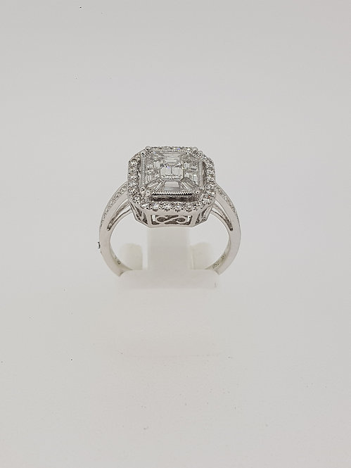 Pave` set diamond Ring