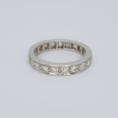 French mark full eternity band. D1.20cts