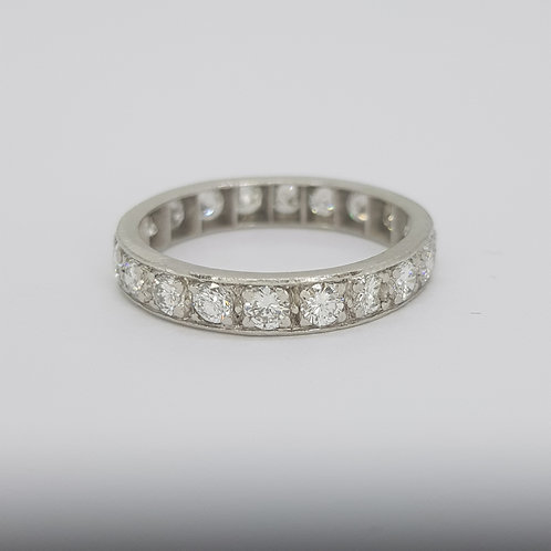 Full eternity band 18ct white gold. D1.00