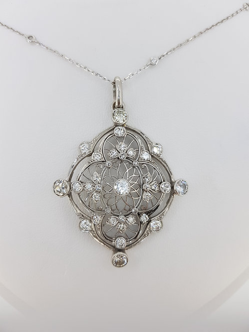 Art deco diamond pendant old cuts