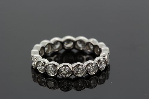 Platinum and diamond eternity band 2.30cts