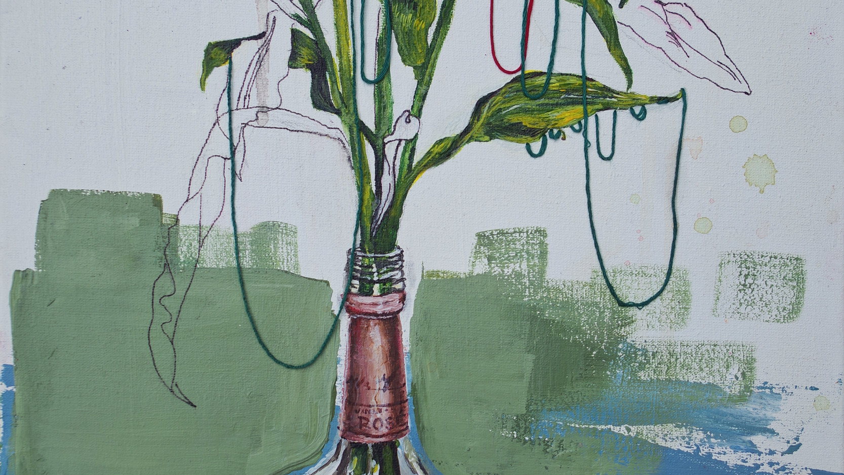 Tilly Gee - Red Flowers in a Rosé Bottle - HIGHLY COMMENDED