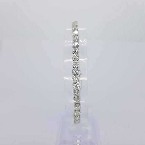 10.74cts Diamond line bracelet