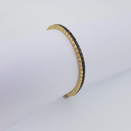 Sapphire yellow gold line bracelet.