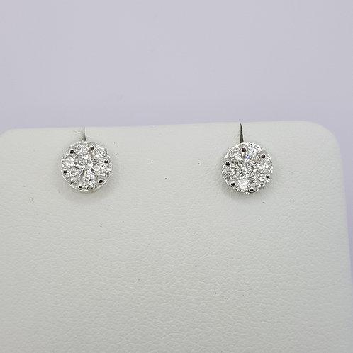18ct white gold diamond ear studs.