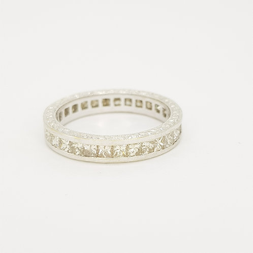 Full eternity band D1.50cts 18ct size M