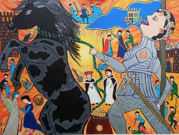 Conquest of Doncaster (jo Miller)  - Acrylic on Canvas 122x91cm