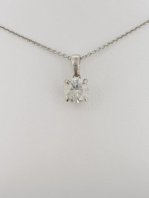 Solitaire diamond pendant.